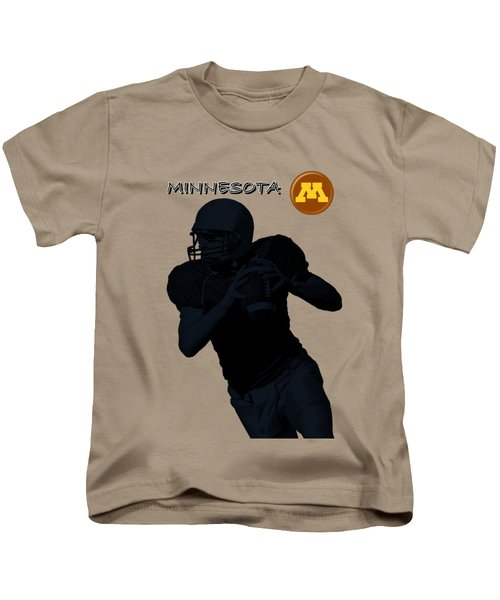 Minnesota Football Kids T-Shirt by David Dehner