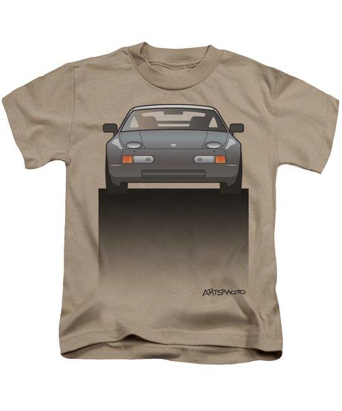 Modern Euro Icons Series Porsche 928 Gts Split Kids T-Shirt by Monkey Crisis On Mars