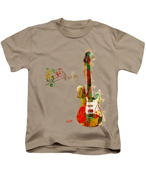 My Guitar Can Sing Kids T-Shirt by Nikki Smith