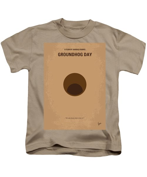 No031 My Groundhog Minimal Movie Poster Kids T-Shirt by Chungkong Art