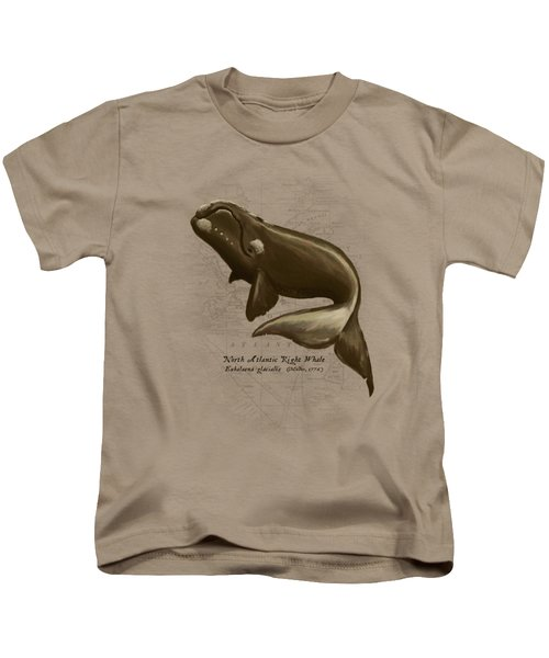North Atlantic Right Whale Kids T-Shirt by Amber Marine