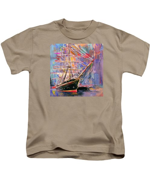 Old Ship 226 4 Kids T-Shirt by Mawra Tahreem