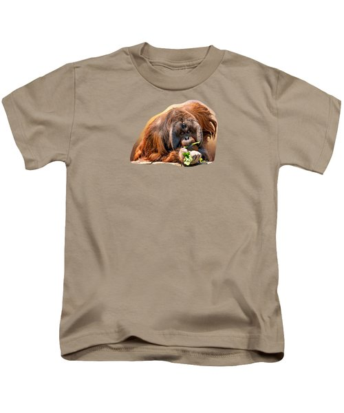 Orangutan Kids T-Shirt by Maria Coulson
