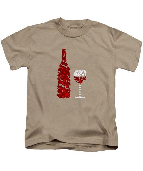 Red Wine Kids T-Shirt by Anastasiya Malakhova