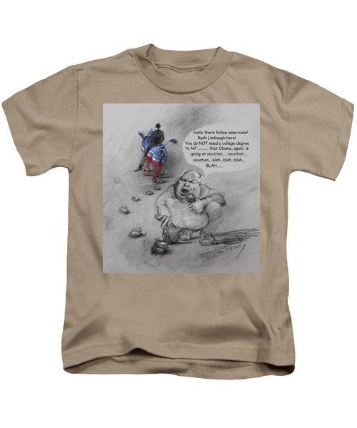 Rush Limbaugh After Obama  Kids T-Shirt by Ylli Haruni