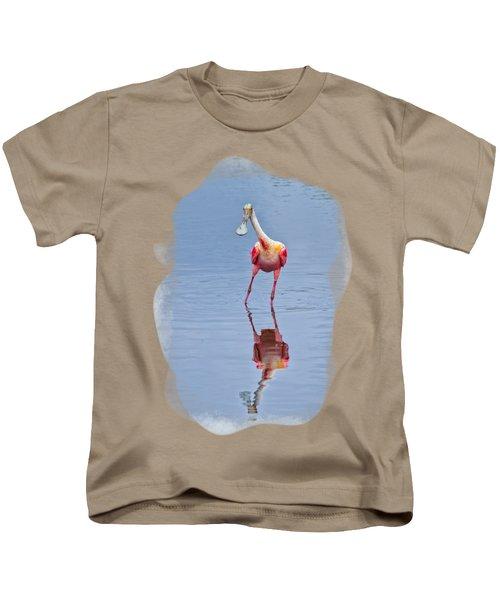 Spoonbill 1 Kids T-Shirt by John M Bailey