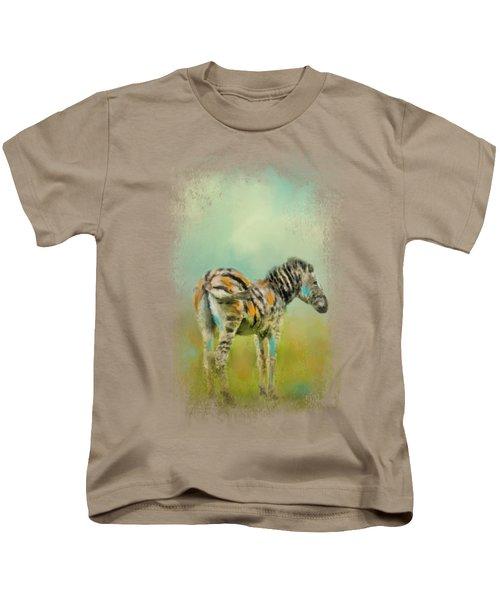 Summer Zebra 1 Kids T-Shirt by Jai Johnson