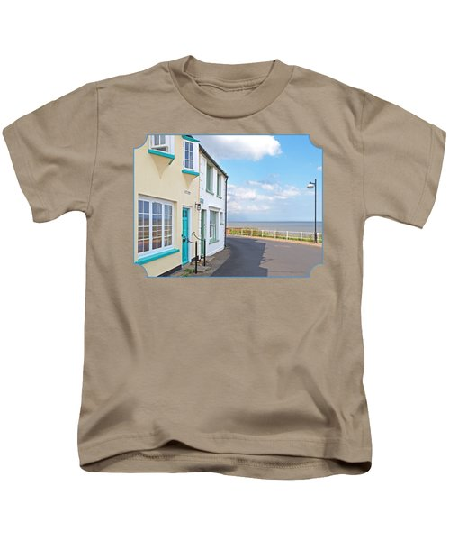 Sunny Outlook - Southwold Seafront Kids T-Shirt by Gill Billington