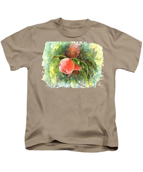 Sunny Peaches Kids T-Shirt by Irina Viatkina