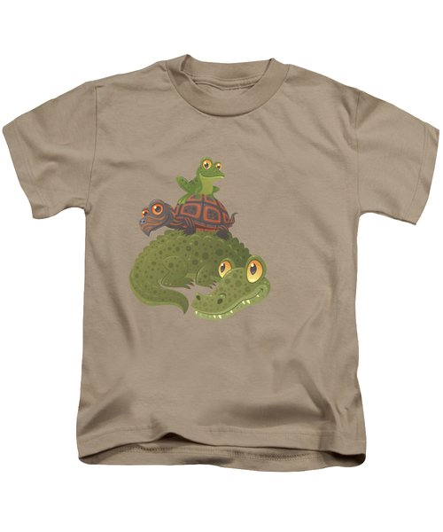 Swamp Squad Kids T-Shirt by John Schwegel