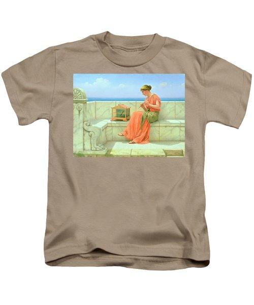 Sweet Sounds Kids T-Shirt by John William Godward