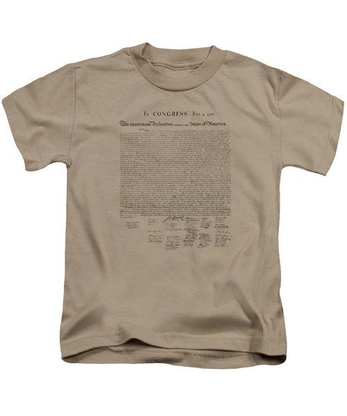 The Declaration Of Independence Kids T-Shirt by War Is Hell Store