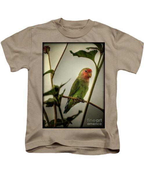 The Lovebird  Kids T-Shirt by Saija  Lehtonen