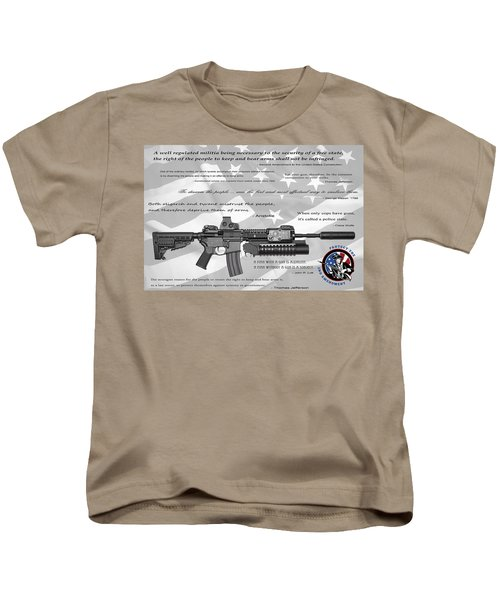 The Right To Bear Arms Kids T-Shirt by Daniel Hagerman