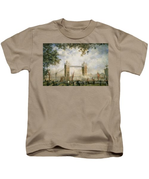 Tower Bridge - From The Tower Of London Kids T-Shirt by Richard Willis