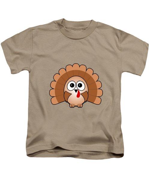 Turkey - Birds - Art For Kids Kids T-Shirt by Anastasiya Malakhova