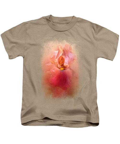 Valentine Iris Kids T-Shirt by Jai Johnson