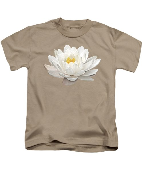 Water Lily Whirlpool Kids T-Shirt by Gill Billington