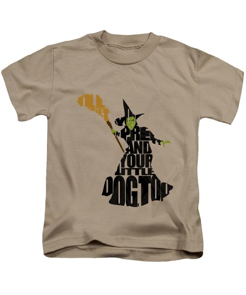 Wicked Witch Of The West Kids T-Shirt by Ayse Deniz