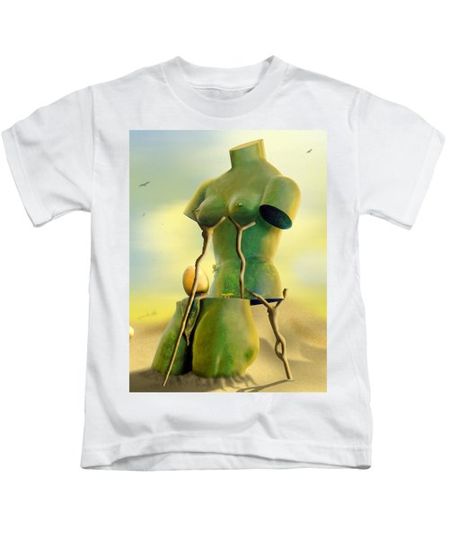 Crutches Kids T-Shirt by Mike McGlothlen