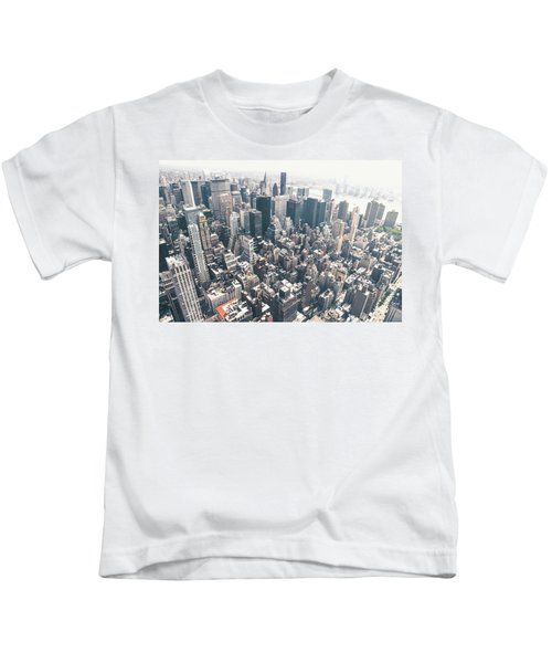 New York City From Above Kids T-Shirt by Vivienne Gucwa