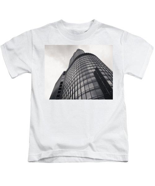 Trump Tower Chicago Kids T-Shirt by Adam Romanowicz