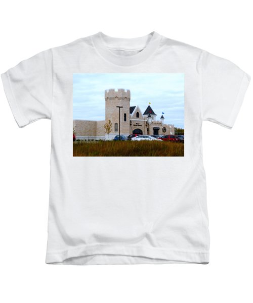 A Cheese Castle Kids T-Shirt by Kay Novy