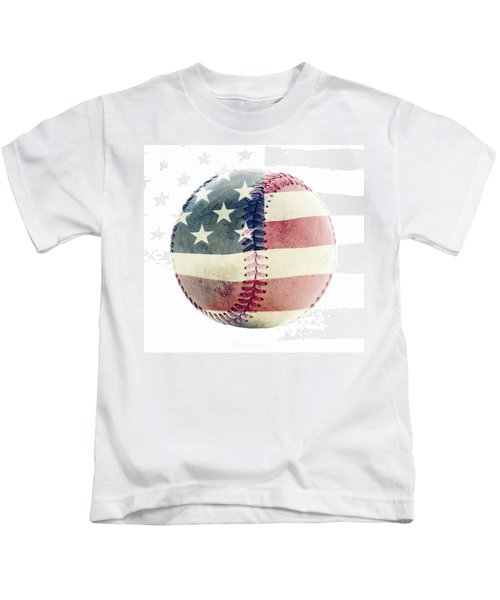 American Baseball Kids T-Shirt by Terry DeLuco