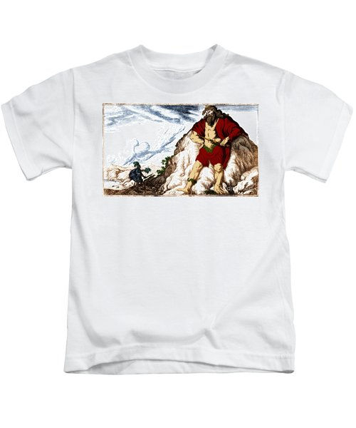 Atlas And Perseus, Greek Mythology Kids T-Shirt by Photo Researchers