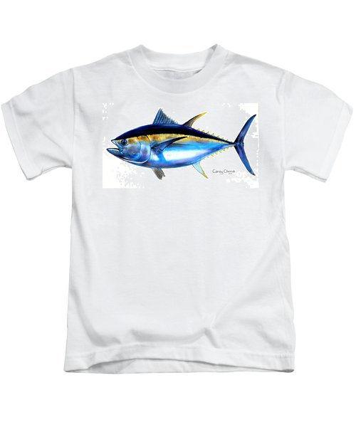Big Eye Tuna Kids T-Shirt by Carey Chen