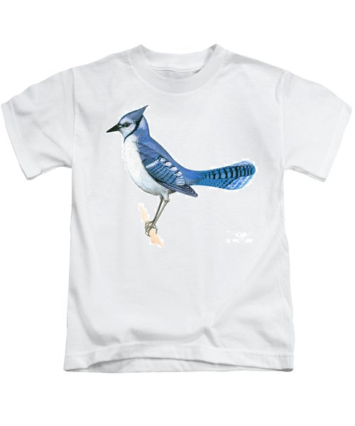 Blue Jay  Kids T-Shirt by Anonymous