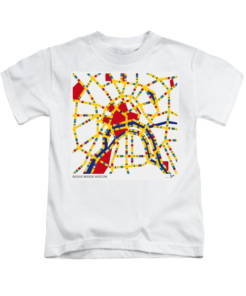 Boogie Woogie Moscow Kids T-Shirt by Chungkong Art