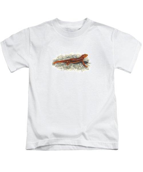California Newt Kids T-Shirt by Cindy Hitchcock