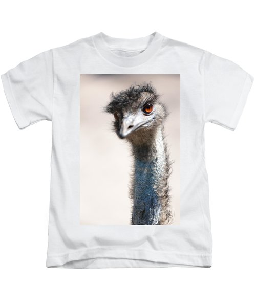 Curious Emu Kids T-Shirt by Carol Groenen