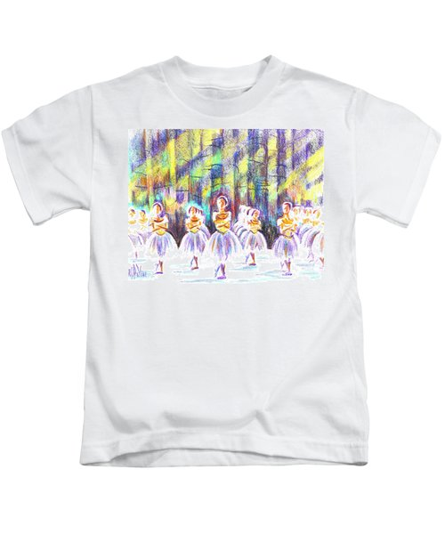 Dancers In The Forest Kids T-Shirt by Kip DeVore