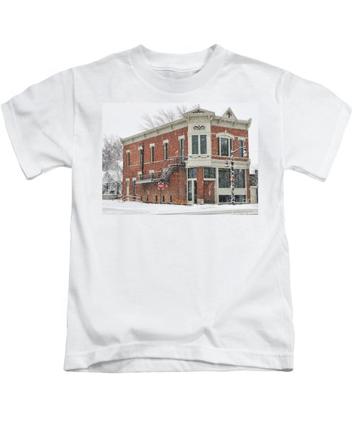 Downtown Whitehouse  7031 Kids T-Shirt by Jack Schultz