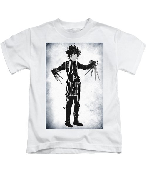 Edward Scissorhands - Johnny Depp Kids T-Shirt by Ayse Deniz