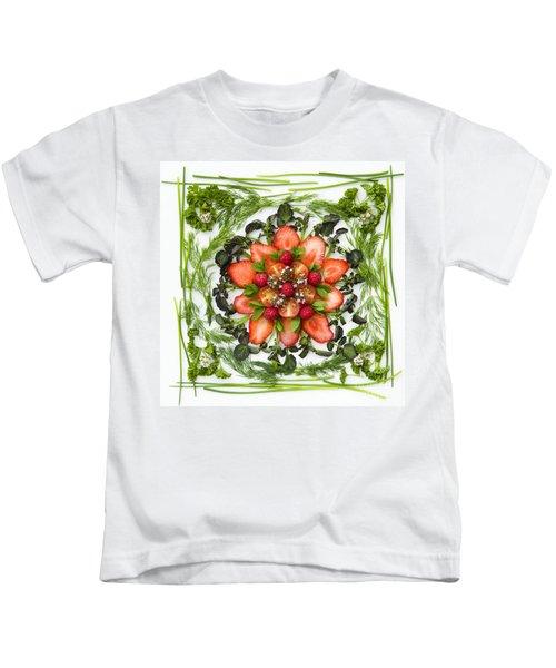 Fresh Fruit Salad Kids T-Shirt by Anne Gilbert