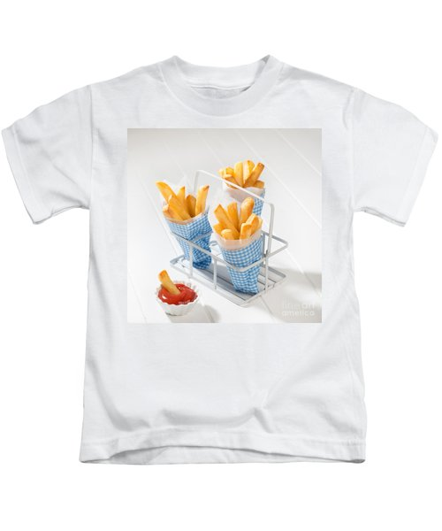 Fries Kids T-Shirt by Amanda Elwell