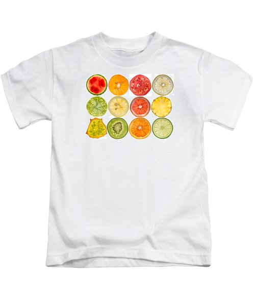 Fruit Market Kids T-Shirt by Steve Gadomski