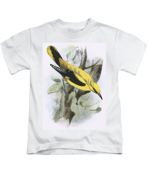 Golden Oriole Kids T-Shirt by English School