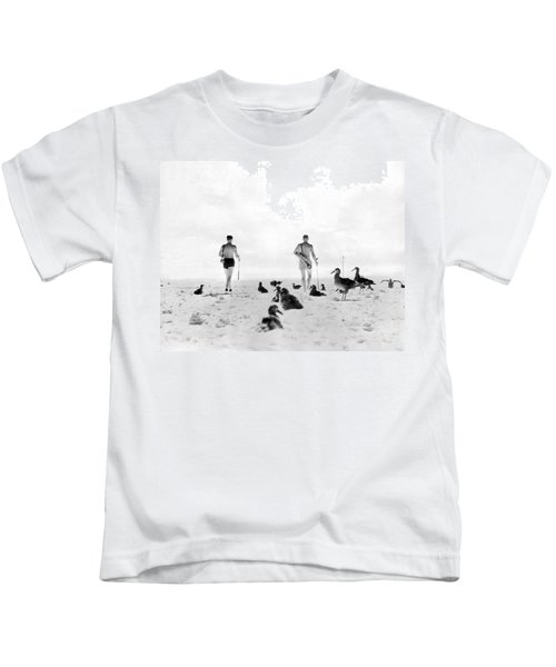 Golf With Gooney Birds Kids T-Shirt by Underwood Archives