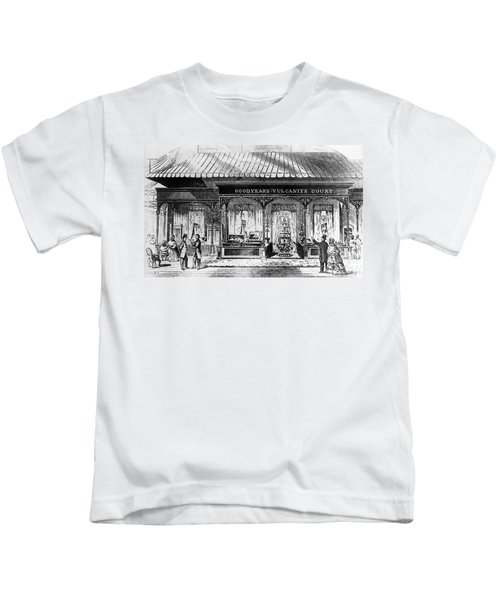 Goodyear Rubber Exhibit Kids T-Shirt by Underwood Archives