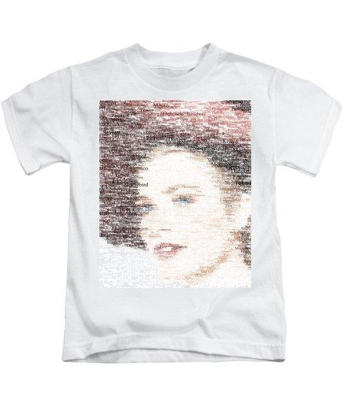 Grace Kelly Typo Kids T-Shirt by Taylan Soyturk