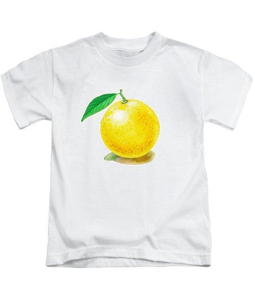 Grapefruit Kids T-Shirt by Irina Sztukowski