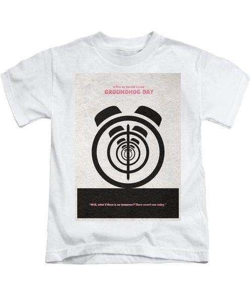 Groundhog Day Kids T-Shirt by Ayse Deniz