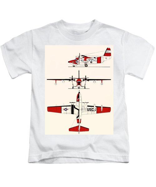 Grumman Hu-16e Albatross Kids T-Shirt by Mountain Dreams