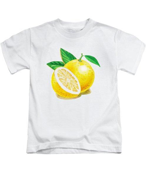 Happy Grapefruit- Irina Sztukowski Kids T-Shirt by Irina Sztukowski