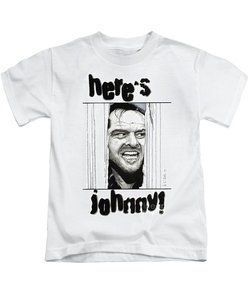 Here's Johnny Kids T-Shirt by Cory Still
