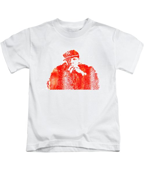 Jay Z Vibes Kids T-Shirt by Brian Reaves